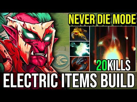 ELECTRIC ITEMS BUILD [Troll Warlord] The Perfect Carry Never Die 20Kills By Aui_2000 Dota 2 FullGame