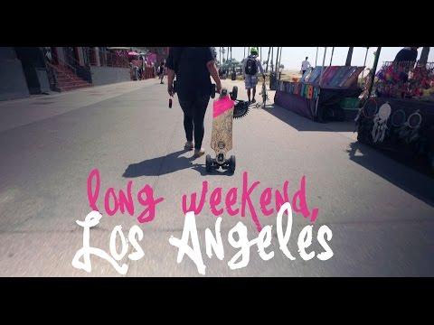 Long Weekend, Los Angeles (Electric Skateboards + Venice Beach) - 4k