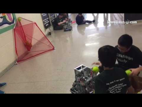 Video: Locke Middle School students show off their robot's shooting accuracy. They're heading to wor
