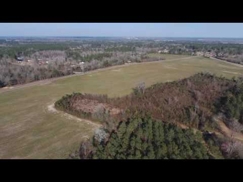 Flying around and behind Edisto High School