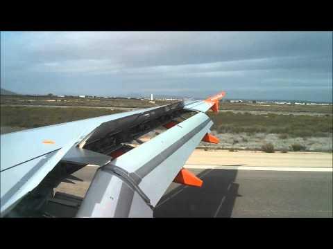 Landing & descent into Murcia San Javier, Spain from LGW - EasyJet A319 [HD]
