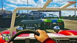GTA 5 PC - EPIC GO-KART TRACK in First Person!! (GTA 5 Online PC Funny Moments)