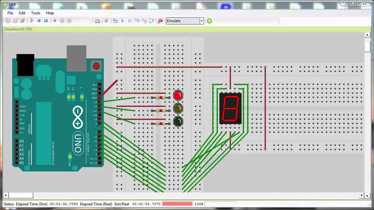 Trafficlight with a timer on arduino youtube