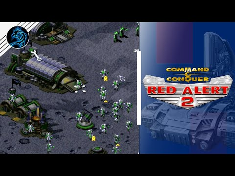 Red Alert 2   Let's Fight On The Moon   (7 vs 1 + Superweapons)