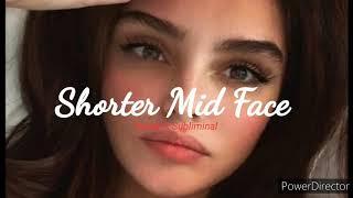 ✨✨Shorter mid face + Mid face lift subliminal ✨✨