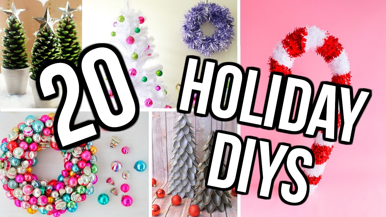 sc 1 st  YouTube & 20 DIY Holiday Room Decor Project Ideas! DIY Christmas Decor! - YouTube