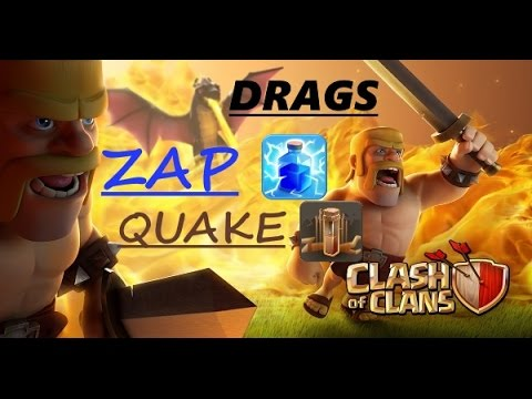 Video - 3 STAR TH8 WAR ATTACK  How to use ZAP, QUAKE with