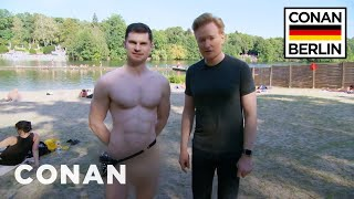 Download Conan & Flula Borg Visit A Nude Beach  - CONAN on TBS