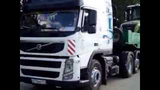 Перевозка трактора Клаас низкорамным тралом(, 2013-09-05T11:39:16.000Z)