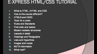 Express HTML CSS Tutorial Overview