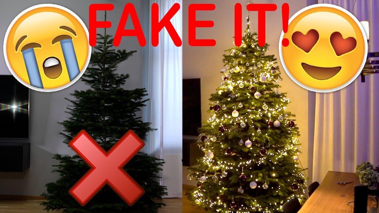 wie faket und schm ckt man einen weihnachtsbaum aktuelle tipps und tricks vorher nachher. Black Bedroom Furniture Sets. Home Design Ideas