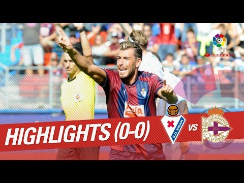Resumen de SD Eibar vs RC Deportivo (0-0)