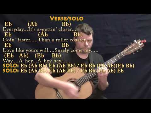 Everyday (Buddy Holly) Guitar Lesson Chord Chart in Eb with Chords/Lyrics