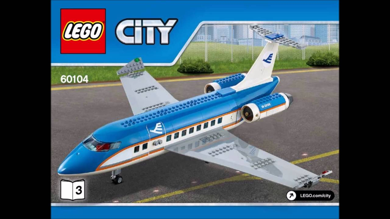 Lego City Airport 60104 Full Instruction Youtube