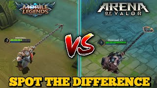 MOBILE LEGENDS VS. ARENA OF VALOR | WHICH ONE IS BETTER ? | SIMILARITIES AND DIFFERENCES