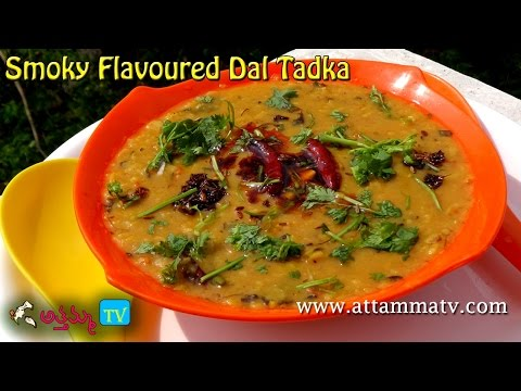 Restaurant style Smoky flavored Dal In Telugu
