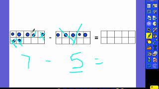 1.OA.6 Adding and Subtracting using ten frames - Unit 2 Day 6