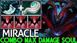 MIRACLE [Shadow Fiend] Epic One Combo Kill ULT Max Damage Soul 7.24 Dota 2