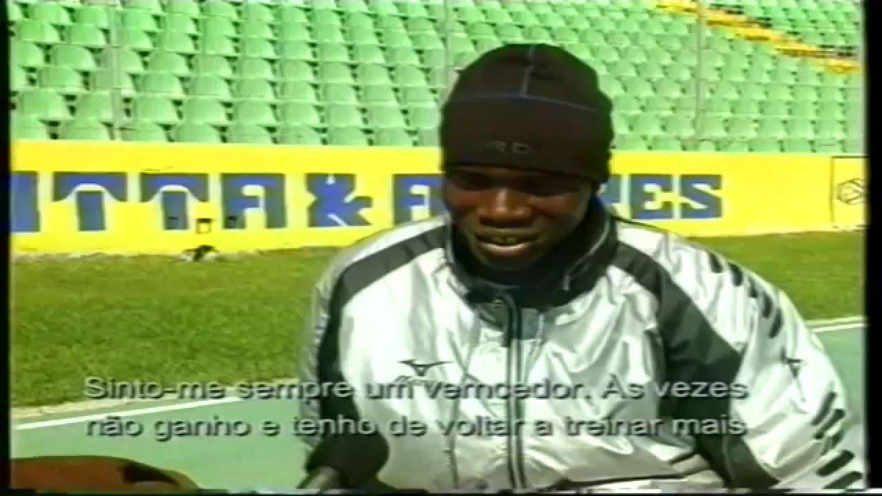 Atletismo :: Francis Obikwelu (Sporting) - Um dia na vida de um Campeão em 25/03/1999