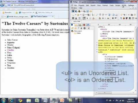 Creating HTML Hyperlinks With PSPad
