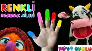 Renkli Parmak Ailesi - Finger Family Songs - RÜYA OKULU