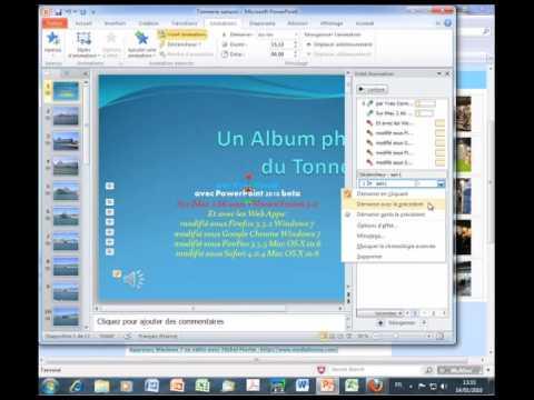 PowerPoint 2010 - Audio et musique dans PowerPoint