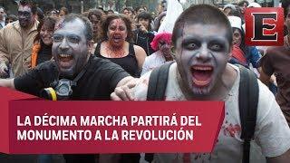 Zombies invaden las calles del Centro Histórico de la CDMX