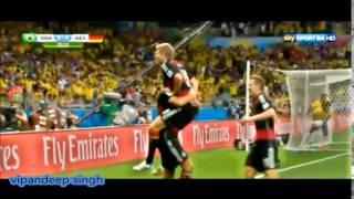 Brasile- Germania 1-7 SEMIFINALE 2014  Sky sport