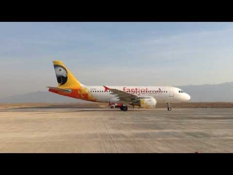 Inaugural fastjet flight to Mbeya Airbus A319 water salute 01.11.13
