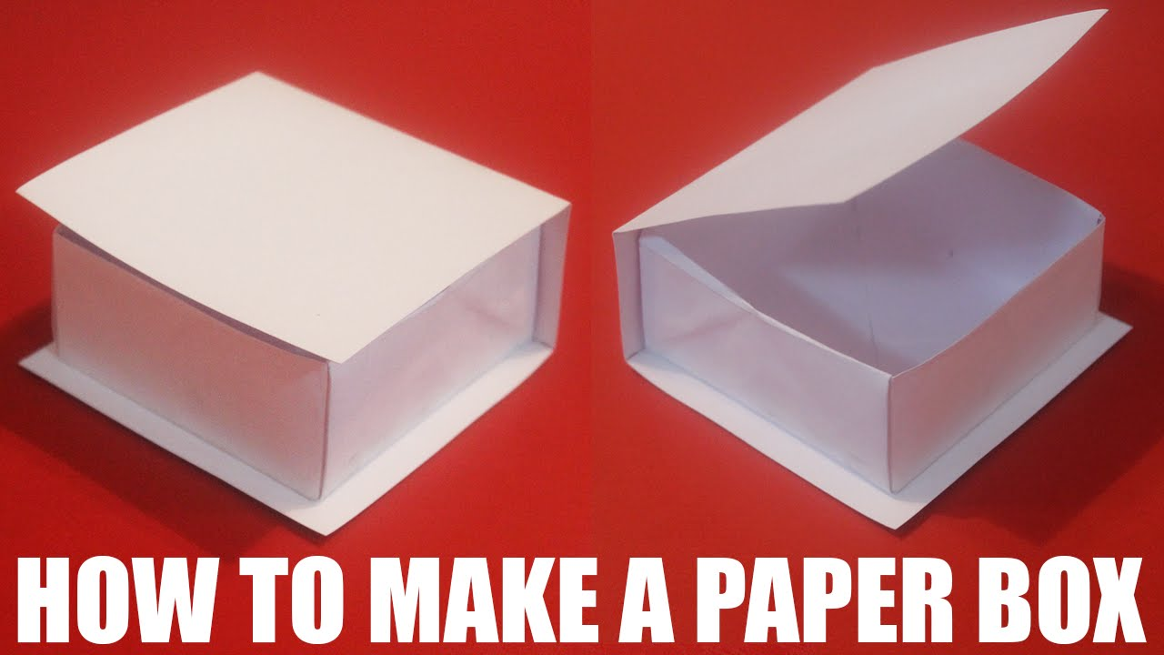 How to make a paper box with a lid that opens - YouTube