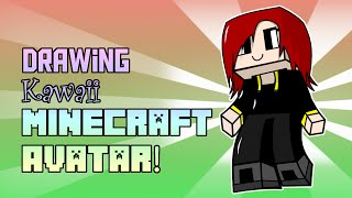 SpeedDrawing-Inkscape: Kawaii Minecraft avatar + Template Download!
