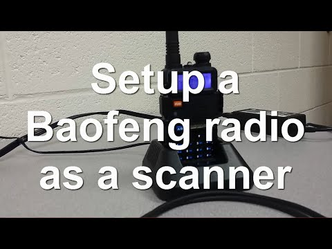 Baofeng UV-5R Programming - setup as a police scanner