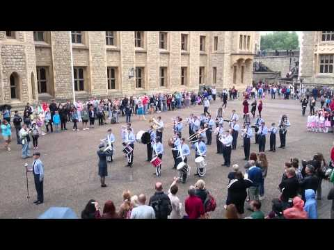 L&SER ACO Marching Band theme from 'The Longest Day' at The Tower of London