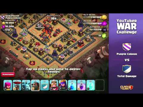 Clash of Clans - YouTuber Clan War (Full Stream)