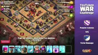 Clash of Clans - YouTuber Clan War (Full Stream)