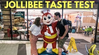 JOLLIBEE TASTE TEST - FOREIGNERS TRYING JOLLIBEE FOR FIRST TIME - JOLLIBEE VS MCDONALDS