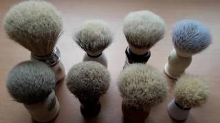 Бритьё. Виды помазков. На что обратить внимание новичку при покупке помазка. Shaving brushes