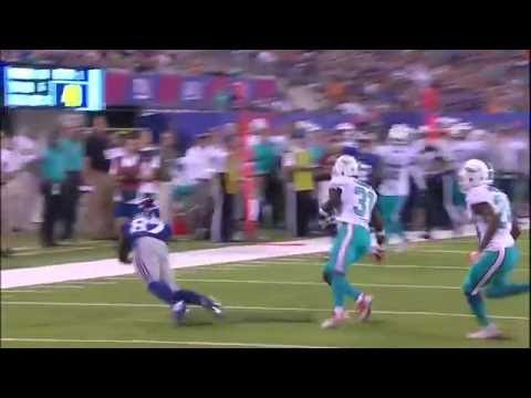Sterling Shepard Makes an Amazing Diving Catch! (Preseason) | Dolphins vs. Giants | NFL