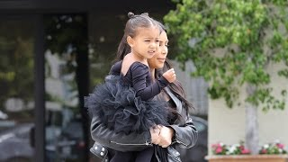 X17 EXCLUSIVE: North West Leaves Dance Class In Her Tap Shoes