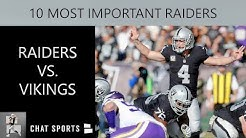 Raiders vs. Vikings: 10 Most Important Players For Oakland To Win NFL Week 3 In Minnesota