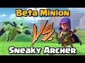 Beta Minion VS Sneaky Archer Clash of Clans Battle New CoC Update 2017