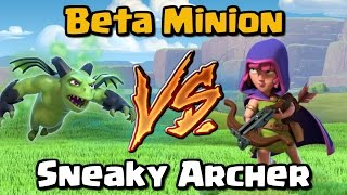 Beta Minion VS Sneaky Archer - Clash of Clans Battle - New CoC Update 2017