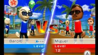 Repeat youtube video Wii Sports Resort- Basketball Pickup Game