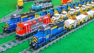 Lego train enlarging! Wonderful Lego trains in motion!