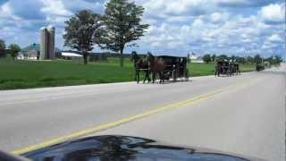 Mennonite Mustangs with Tons of Horsepower Racing Home after Church Services
