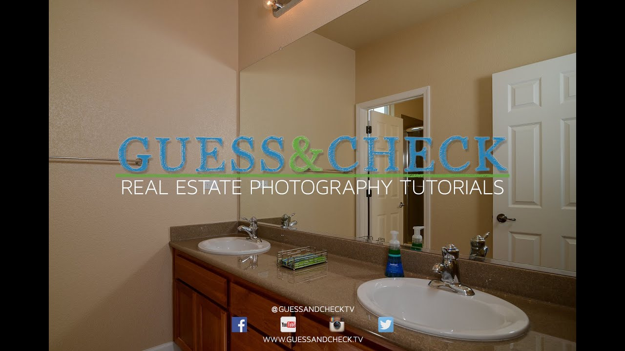 How To Use Small Flashes In A Small Bathroom For Real Estate Photographers