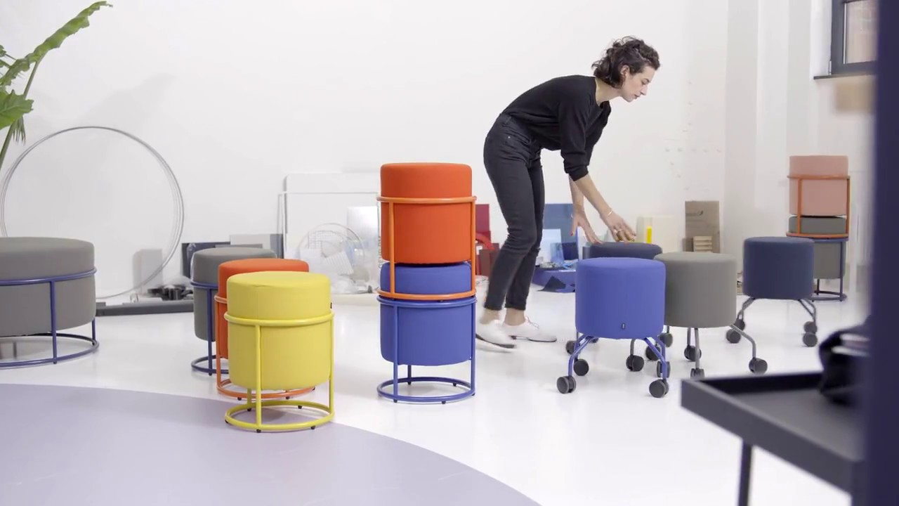 COR LAB: Charming Stool And Pouf Drop, Designed By Pauline Deltour