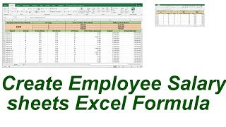 Create Salary sheets Excel formula