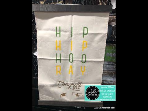 Chalk Couture-Hip Hip Hooray Canvas Banner! #chalkart #diy #ChalkCouture #HomeDecor