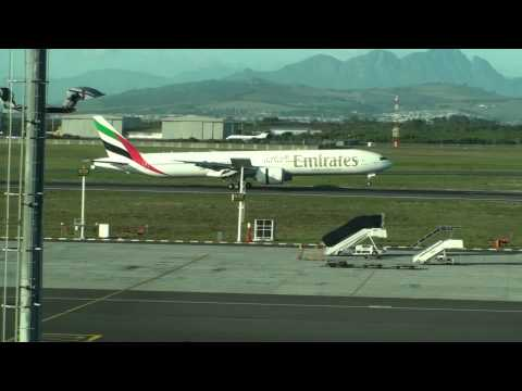 Emirates Boeing 777 Landing At Cape Town Airport